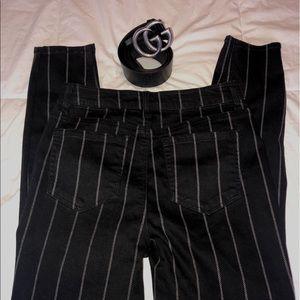 Stripe Skinny Tube Jeans